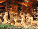 Nativity crib and Christmas carols